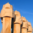 Famous chimneys at Casa Mila (also called La Pedrera) by Antoni Gaudi — Stock Photo