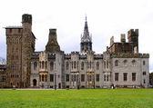 Cardiff castle & inside gardens. Wales. — Stock Photo