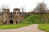 Cardiff castle & inside gardens. Wales. — Stock Photo