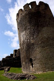 Ruins of Caerphilly Castle, Wales — Stock Photo