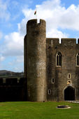 Caerphilly Castle, Wales. — Stock Photo