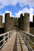 Ruins of Caerphilly Castle, Wales. — Stock Photo