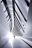Footpath bridge pavilion — Stock Photo