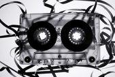 Old broken tape cassete — Stock Photo