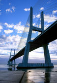 """Vasco da Gama"" Bridge, over Lisbon's river Tagus — Stock Photo"