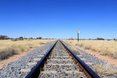 Namibian desert railway line perspective — Stock Photo