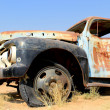 Old and rusty car wreck at the last gaz station before the Namib — Stock Photo #20501129