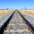 Namibian desert railway line perspective — Stock Photo #20751635