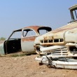 Old and rusty car wreck at the last gaz station before the Namib — Stock Photo #20752541