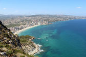 Panoramic view over Calp (Spain) — Stockfoto