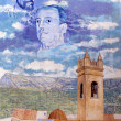 Painted Mural at Plaza D. Manuel Miro. Calp, Sapin. — Stock Photo