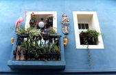 Calpe. Mediterranean Spanish coastal city historic old town cent — Stock Photo