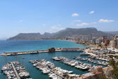 Panoramic view over Calp (Spain) — Stok fotoğraf