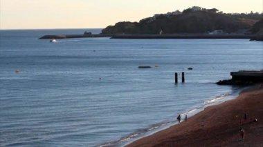 Albufeira fishermen beach scenario (Praia dos pescadores, Algarve, Portugal) — Stock Video