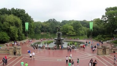 Historic Bethesda Terrace in Central Park — Stock Video
