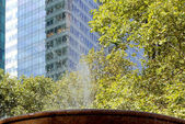 Midtown Manhattan highrise buildings as seen from Bryant Park, N — Stock Photo