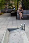 Yüksek hat. New york şehri. yükseltilmiş yaya park — Stok fotoğraf