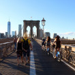 Walkway on the brooklyn bridge in New York City. — Stock fotografie