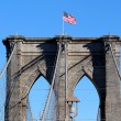 Brooklyn Bridge in Manhattan over Hudson River. — Foto Stock