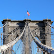 Brooklyn Bridge in Manhattan over Hudson River. — Foto de Stock