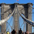 Walkway on the brooklyn bridge in New York City. — Stock Photo #34265363