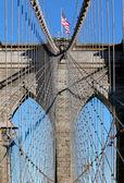 Brooklyn Bridge in Manhattan over Hudson River. — Stockfoto