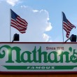 The Nathan's sign on September 01, 2013 in Coney Island, NY. — Stock Photo