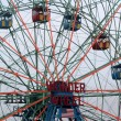 Wonder Wheel located at Deno's Wonder Wheel Amusement Park in Co — Stock Photo #35986293