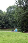 Pessoas no central park, nova iorque — Foto Stock