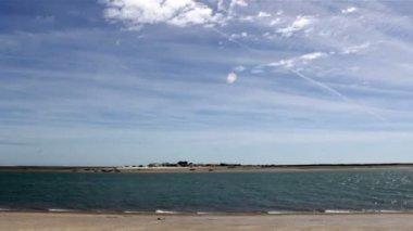 Timelapse ria formosa - ostrov. Algarve. Portugalsko — Stock video