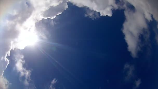 Cloudscape dessous time-lapse — Vidéo