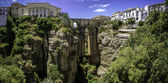 Ronda Panoramic view over Puente Nuevo — Stock Photo