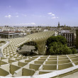 Panoramic view in the top of Metropol Parasol in Plaza de la Enc — Stock Photo #48418655