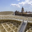 Panoramic view in the top of Metropol Parasol in Plaza de la Encarnacion on 31 of May 2014 in Sevilla,Spain. — Stock Photo #49141623