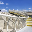 Panoramic view in the top of Metropol Parasol in Plaza de la Encarnacion on 31 of May 2014 in Sevilla,Spain. — Stock Photo #49283871