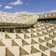 Panoramic view in the top of Metropol Parasol in Plaza de la Encarnacion on 31 of May 2014 in Sevilla,Spain. — Stock Photo #49284093