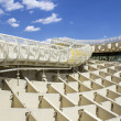 Panoramic view in the top of Metropol Parasol in Plaza de la Encarnacion on 31 of May 2014 in Sevilla,Spain. — Stock Photo #49284381