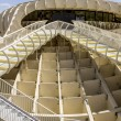 Panoramic view in the top of Metropol Parasol in Plaza de la Encarnacion on 31 of May 2014 in Sevilla,Spain. — Stock Photo #49284873
