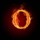 Burning Letter O — Stock Photo