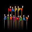 Happy Birthday Candles — Stock Photo #16900169