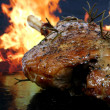 Traditional English wine marinade roast by romantic fire — Stock Photo #16906005