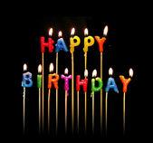 Happy Birthday Candles — Stock Photo