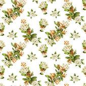 Watercolor blossom seamless wallpaper — Stock Photo