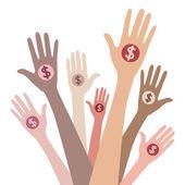 Giving money — Stock Vector