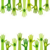Living green — Stock Vector