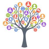 Communication tree — Stock Vector
