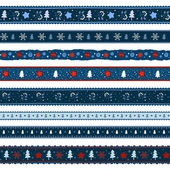 Christmas ribbon seamless pattern — Stock Vector