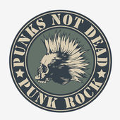 "Emblem ""punk not dead"" — Stock Vector"