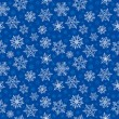 Seamless pattern with New Year's snowflakes - Stok Vektör