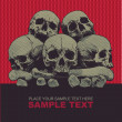 Vector grunge background with a skulls. for CD cover — 图库矢量图片